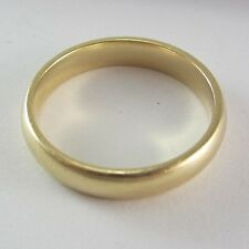 STUNNING MENS 14K YELLOW GOLD WEDDING BAND; 5.2G