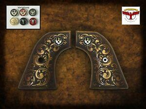 RUGER BLACKHAWK, VAQUERO, SINGLE SIX, WRANGLER ~ Magna-Tusk™ AGED SCROLL GRIPS