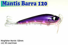 Kingfisher Mantis Barra 120mm Cod Surface Fishing Lure 02 Coachman 2017