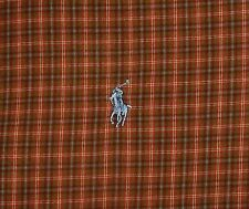 POLO by RALPH LAUREN STANTON L/S Brown Plaid Dress Casual Shirt XXL 2XL