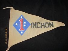 KW I US MARINES 1 ST MARINE DIVISION INCHON  BAR/BARRACKS WALL  FLAG