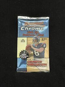 2002 RARE Bowman Chrome Football Pack *Possible Tom Brady Refractor* -SC&MORE-