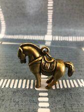 Collectable Japanese Samurai Sword Brass horse Pendant Accessories