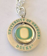 University of Oregon Ducks Logo Spinner Charm Necklace - NCAA Licensed jewelry