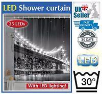 Wenko LED New York Brooklyn Bridge 180 x 200cm World Novelty Shower Curtain