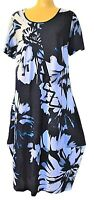 TS dress TAKING SHAPE plus sz M / 18- 20 Indigo Vibes Dress draping NWT rrp$130!