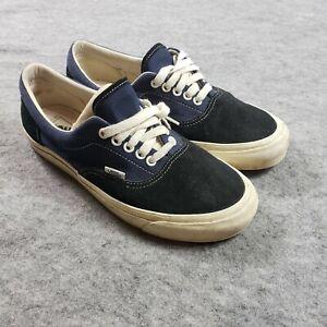 Vans Mens Shoes 9.5 Black Blue Lace Up Sneakers Skateboarding Low Top Adult