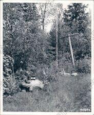 1944 Rhinelander Wisconsin Straw Boss Operating Portable Telephone Press Photo