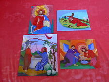 4 Beautiful,Old Pictures__Reverse Glass Painting__Sacred