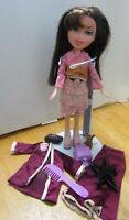 BRATZ DOLL DARK BROWN HAIR apricot cotton skirt top satin set and free items