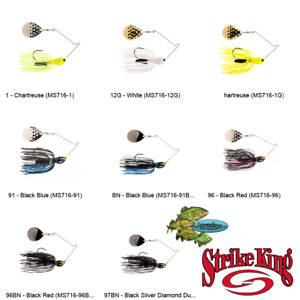 Strike King Spinnerbait Midnight Special 7/16oz (MS716) Any 8 Color Fishing Lure