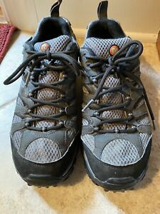 Merrell Continuum Shoes Mens Sz 8 Vibram Moab Ventilator Gray And Black Hiking