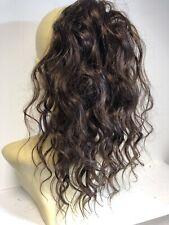 Brown (4) 14 Inches Wavy Human Hair Mix Premium Hair Scrunchie Hair Extension