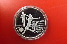 *Silbermünze/Medaille ca.15g.(1000) PP * Fußball WM Spanien 1982 (BOX 14)