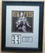 US Post Elvis Presley Kunstdruck im Rahmen 34 x 42 cm mit 4er Block postfrisch