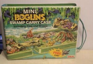 VTG Mini Boglins Swamp Carrying Case Vinyl Ideal w/Chief Figure 1991
