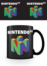 Nintendo 64 Official Retro Logo Black Ceramic Mug Tea Coffee Cup Game Console