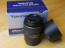 Tokina 100mm, AT-X PRO D, f2.8 Macro, Canon mount, excellent condition.