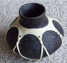 "Tarahumara Indian Pottery Vase Mexican Mexico Southwestern Rustic Decor 8"" Tall"