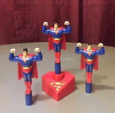 BURGER KING 1997 Lot Of 3 SUPERMAN LAUNCHER TOYS DC FIGURES