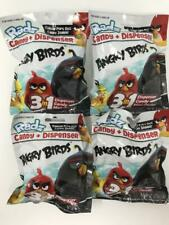 RADZ Angry Birds Candy Dispenser & Mini Poster Lot of 4 New Sealed Blind Bags