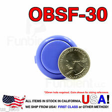 Sanwa Denshi Original OBSF-30 Dark Blue Push Button JAMMA guitar killswitch 30mm