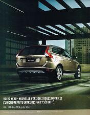 PUBLICITE ADVERTISING 075  2009  VOLVO  XC60 2 roues motrices