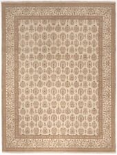 """Han-knotted Indian rug. 9' x 11'10"""""""