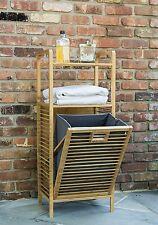 Lightweight Bamboo Hamper With Shelves Tivoli Tbh-002 Laundry Room