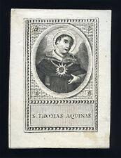 santino incisione 1700  S.TOMMASO D'AQUINO