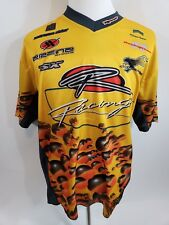 Men's Athletic Works Polyester Yellow&Black RACERS Shirt Rider Sz Lg Pullover