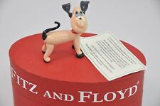 "Fitz and Floyd Glass Menagerie Ltd Edition ""Napoleon"" dog Art Glass Figurine"