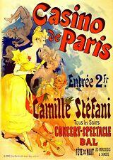 VINTAGE CASINO DE PARIS JULES CHERET FRENCH ADVERTISING A4 POSTER PRINT