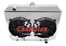"3 Row Perf Radiator,12"" Fans,Shroud - 1970-1974 Dodge Challenger Small Block Eng"