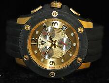 Men's Swiss Legend Swiss Chronograph Gold Textured Dial Black Polyurethane Watch