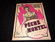 PECHE MORTEL Gene Tierney Vincent Price scenario dossier presse cinema 1945