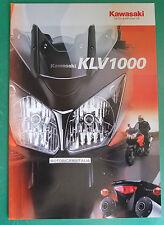 KAWASAKI MOTO KLV1000 CATALOGO BROCHURE CATALOG  DEPLIANT