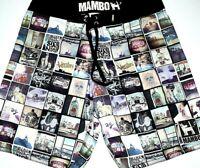 "Mambo Boardshorts Large Mens Boardies 32"" Surf Beach Board Shorts Swim Trunks L"