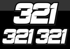 3 x Autocollants Stickers Numero de course Auto Moto Cross Piste Qualité Premium