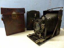 VERY OLD VOIGTLANDER PLATE CAMERA WITH 6 PLATES AND LEATHER CASE - RARE - L@@K