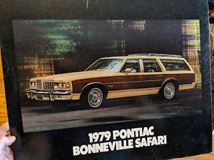 1979 PONTIAC BONNEVILLE SAFARI STATION WAGON DEALERSHIP ADVERTISING SIGN VTG