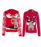 New Unisex Kids Boys Girls Christmas Reindeer 3D Pom Pom Novelty Xmas Jumper TOP