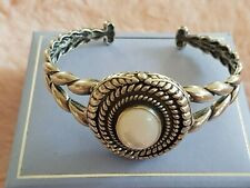 Carolyn Pollack American West Sterling 925 Onyx /Mop Interchangeable Cuff Bangle