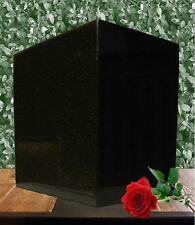 Adult Black Granite funeral cremation urn, Brand New Natural Black Granite