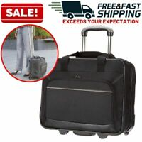 Rolling Wheeled Laptop Bag Computer Case Business Briefcase Travel Carry On