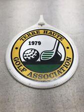 Vintage Golf Bag Tag 1979 Terre Haute Indiana Golf Association In
