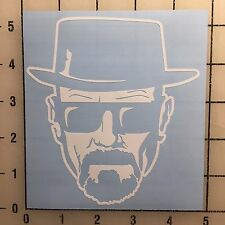 """Breaking Bad Walter White 5"""" Tall White Vinyl Decal Sticker - BOGO"""
