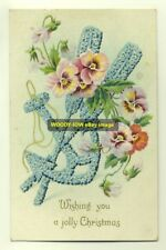 gr964 - Embossed Christmas Greeting - Forget Me Nots - postcard