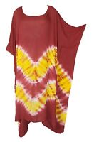 TIE DYE Cover up Kaftan Beach Hippie Dress Boho Size 18 20 22 24 26 28 30 32