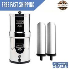 "Travel Berkey Stainless Steel with Two 7"" White Ceramic Filters, Free Shipping"